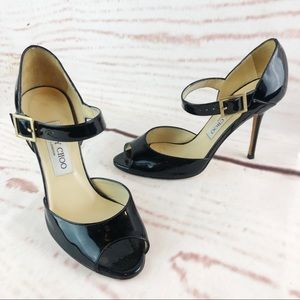 Jimmy Choo | Patent Leather Strap Heel, Sz 6